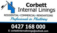 Professionals in Plastering- Corbett Internal Linings Newcastle Newcastle Area Preview