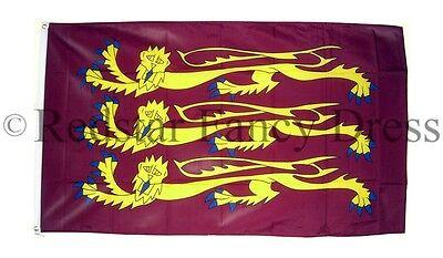 RICHARD THE LIONHEART FLAG 5FT X 3FT  CRUSADE OFFICIAL HIGH QUALITY DENIER FLAGS