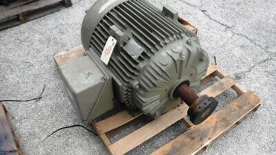 75 Hp General Electric Ac Electric Motor 1200 Rpm Fr 405t Tefcbb 460 V New