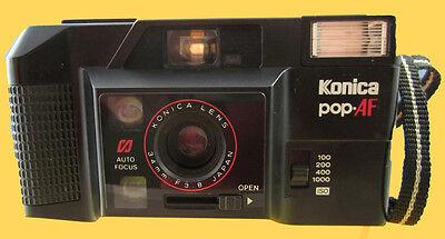 KONIKA POP AF - VINTAGE 1980's MOTORISED 35mm COMPACT FILM CAMERA