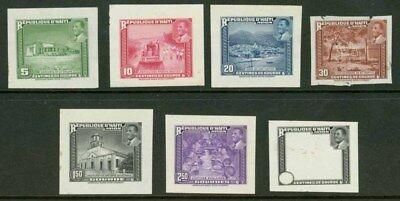 Haiti 1953 Magloire set engraved DIE PROOFS (x7)