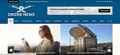 Automated Wordpress Drone News Website - Turnkey Profitable Site