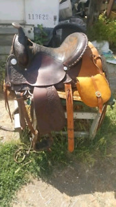 "15"" western pleasure saddle"