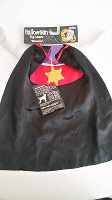 Dracula Dog Costume Pet Halloween Fancy Dress Size Medium M NEW! Vampire