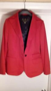 NEW RED BARBOUR BLAZER