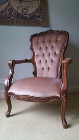 Set of three reproduction french style chairs.