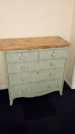 tall solid chest of drawers shabby chic