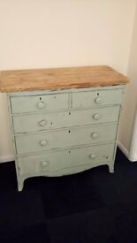 large solid chest of drawers shabby chic