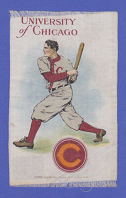 c1910s S22 tobacco silk  UNIVERSITY of CHICAGO Baseball Batter