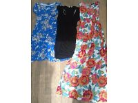 3 Maternity dresses/clothes/bundle - size 8/10