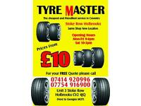 Partworn / used tyres in Coventry