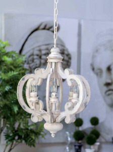 New! 6-Light Classic Vintage Chandelier - Antique White