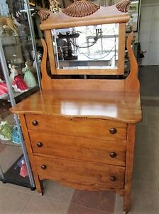 Antique Solid Oak 3 Drawer Dresser, Beautiful Condition London Ontario image 1