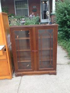1930's Bookshelf - Glass Doors!