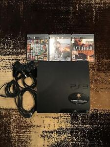 PS3 SLIM, 160 GB, 4 GAMES.