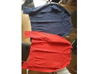 2 Women's Tommy Hilfiger jumpers- red and navy. Size S.