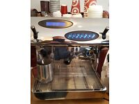 FOR SALE 1 GROUP COFFEE ESPRESSO, CAPPUCCINO COFFEE MAKER WITH GRINDER