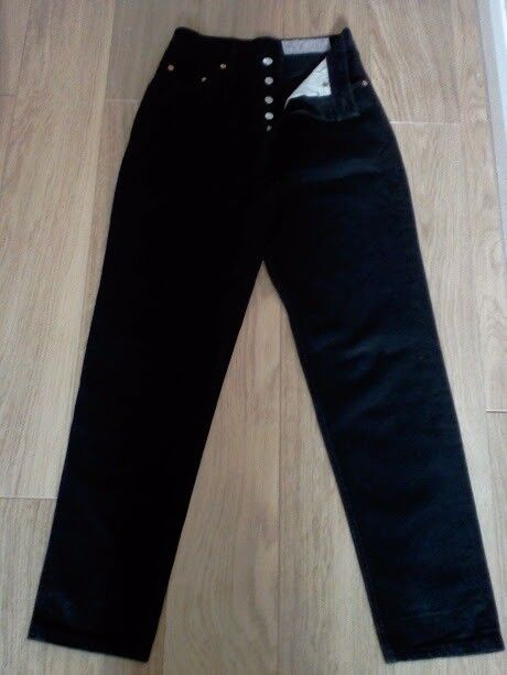 abf3d314 Rare Levi's Vintage Retro Mom Jeans Original Levi's 901 Red Tab High Waisted  Black W28 L30