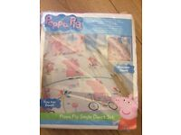 NEW peppa pig single duvet cover and pillow case set