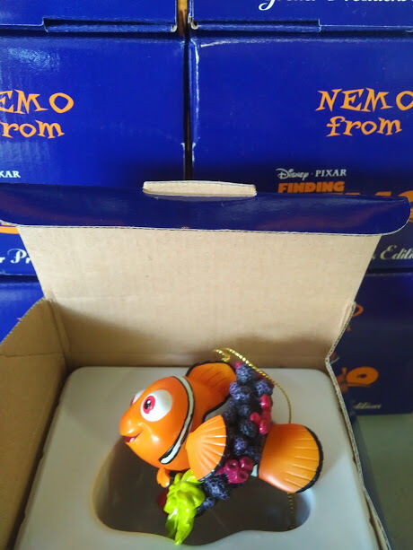 DISNEY GROLIER CHRISTMAS - FINDING NEMO - NEMO RARE BOXED ORNAMENT NEW