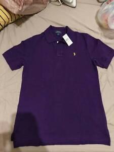 BNWT. Kids Polo Ralph Lauren XL(18-20) Purple Mesh Polo Shirt Braeside Kingston Area Preview