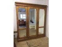 Magnificent Antique Mirrored Wardrobe
