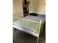 Double bed white with matress