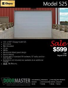 "Garage Door SALE 12'2""x10'"