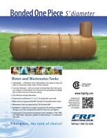 Fiberglass Water Cisterns & Septic Tanks - Available Locally!