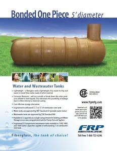 Fiberglass Water Cisterns & Septic Tanks - Available Locally! Regina Regina Area image 1
