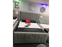 High Quality Grey Arizona Bedframe on Sale ¬!¬!¬