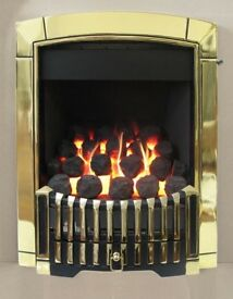 Brand new & boxed - Flavel caress plus traditional manual control gas fire - Brass