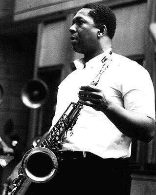 Jazz Musician JOHN COLTRANE Glossy 8x10 Photo Saxophonist Glossy Print Poster