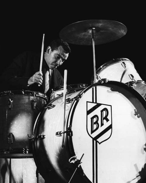 American Jazz Drummer BUDDY RICH Glossy 8x10 Photo Music Poster Print