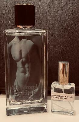 Abercrombie & Fitch FIERCE Cologne 15ml Deluxe Decant Glass Atomizer Spray *NEW*