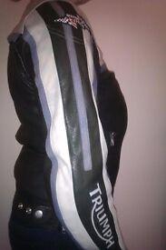 Triumph Motorcycle Jacket Size 12 Ladies