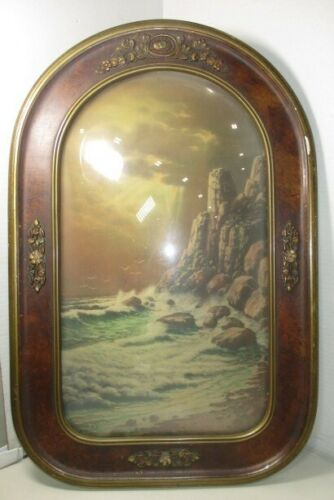 Vntage framed glass W A Carson picture