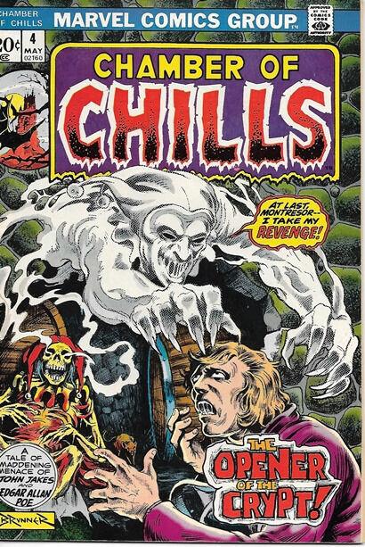 Chamber of Chills Comic Book #4, Marvel Comics 1973 VERY FINE-