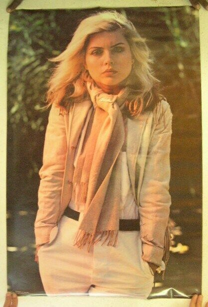 Deborah Harry Poster Blondie Debbie Business Attire Vintage