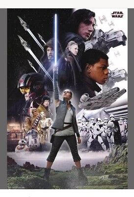 STAR WARS MOVIE POSTERS SET OF 4. BRAND NEW UNOPENED (TEASER). + STAR FIGHTER.