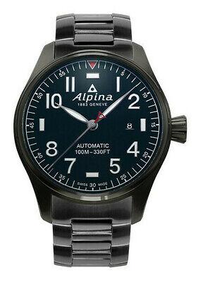 Alpina Men's Startimer Pilot Automatic Black 44mm Watch AL-525NN4TS6B Black Automatic Watch