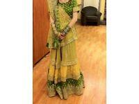 Wedding formal Asian Pakistani Indian Bollywood traditional embroided dress lengha choli