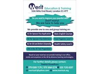 A2, B1 and Life in The UK preparation courses for immigration purpose in East London