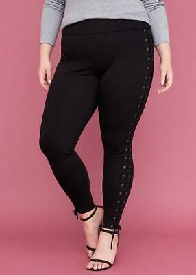 LANE BRYANT ~ NWT New! 26 ~ INTERSCULPT PONTE Lace-Up Legging Pants 3X 4X for sale  Shipping to India