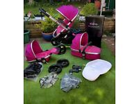 iCandy Peach 3 Blossom Fuschia Double, Single, Pushchair, Carrycot