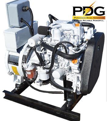 8.5 Kw Diesel Marine Generator Isuzu Heat Exchanger Cooled