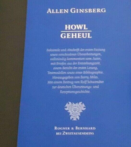 Allen Ginsberg - Howl / Geheul - Buch Selten