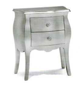 ... argentato classico colore foglia argento mobile camera da letto  eBay