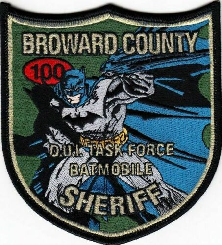 BROWARD COUNTY FL SHERIFF DEPT DUI TASK FORCE BATMAN (FIRE) SO SD RED 100