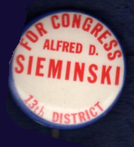 ALFRED SIEMINSKI JERSEY CITY HUDSON CO CONGRESS POLISH MCINERNEY PINBACK BUTTON